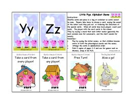 Little Pigs Alphabet Card Game