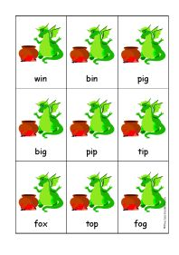 dragon cards cvc words